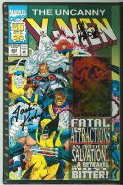 Uncanny X-Men #304 Dynamic Forces Signed x2 Jack Kirby DF COA Marvel comic